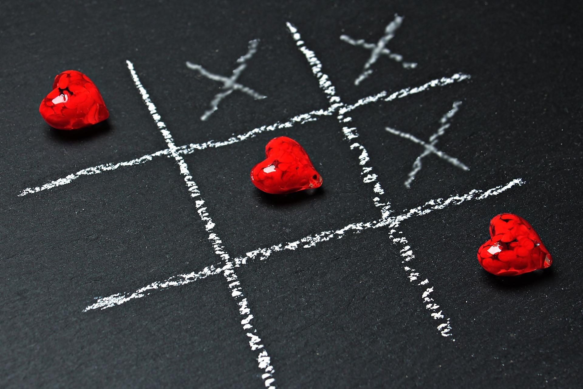 Tic Tac Toe mit Herzen